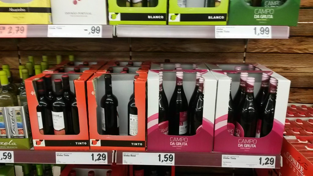Wine at supermarket